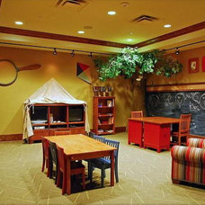 Contemporary  Camping in the Basement Playroom