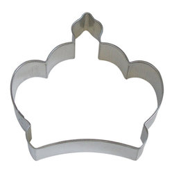 "RM - Imperial Crown 3.5 In. B0898 - Imperial Crown cookie cutter, made of sturdy tin, Size 3.5"" wide by 3.25"" tall in the middle. Depth 7/8 in., Color silver."