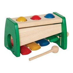 Guidecraft Xylophone Ball Bopper - A fun twist on the classic toy xylophone, the Guidecraft Xylophone Ball Bopper will delight toddlers and young children. Young ones love pounding the wooden balls through the snug holes with the included mallet. The holes have tough vinyl rings to hold the balls in place. Flip the toy over and adjust the cords, and the mallet can be struck on each bar to make a different chord.About GuidecraftGuidecraft was founded in 1964 in a small woodshop, producing 10 items. Today, Guidecraft's line includes over 160 educational toys and furnishings. The company's size has changed, but their mission remains the same; stay true to the tradition of smart, beautifully crafted wood products, which allow children's minds and imaginations room to truly wonder and grow.Guidecraft plans to continue far into the future with what they do best, while always giving their loyal customers what they have come to expect: expert quality, excellent service, and an ever-growing collection of creativity-inspiring products for children.