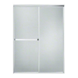 STERLING PLUMBING - STERLING Standard Sliding Shower Door with Tappered and Standard Wall Jambs - Perfect for larger shower door openings, this sliding door brings traditional styling while providing an exterior towel bar for additional hanging space.