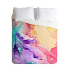 DENY Designs - Rosie Brown Color My World Duvet Cover - Turn your basic, boring down comforter into the super stylish focal point of your bedroom. Our Luxe Duvet is made from a heavy-weight luxurious woven polyester with a 50% cotton/50% polyester cream bottom. It also includes a hidden zipper with interior corner ties to secure your comforter. it's comfy, fade-resistant, and custom printed for each and every customer.