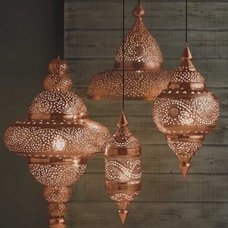 Copper Moroccan Hanging Lamp - Candles & Lights - Home Accessories - VivaTerra