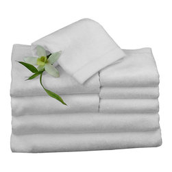 BedVoyage - Towel Bundle, White - BedVoyage Bamboo Towels are the utmost in velvety softness! With a blend of 70% bamboo viscose and 30% cotton, the towels are incredibly durable, absorbent and amazingly soft to the touch. You will feel so pampered when you wrap this wonderful towel around your body. Towel Bundle includes 2 Bath, 2 Hand and 4 Wash.