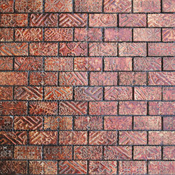 Maximo Glass Tile Etched Brick A -