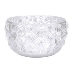 Lalique - Lalique Spirales Bowl Large Clear - Lalique Spirales Bowl Large Clear 10306900  -  Size: 11.81 Inches Long x 6.96 Inches Tall  -  Genuine Lalique Crystal  -  Fully Authorized U.S. Lalique Crystal Dealer  -  Created by the Lost Wax Technique  -  No Two Lalique Pieces Are Exactly the Same  -  Brand New in the Original Lalique Box  -  Every Lalique Piece is Signed by Hand, a Sign of its Authenticity and Quality  -  Created in Wingen on Moder-France  -  Lalique Crystal UPC Number: 090592929001