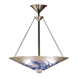 Architectural Glass Sapphire Bramble Pendant Light - You want drama. You want to make a statement. You want this Architectural Glass Sapphire Bramble Pendant Light. The stunning colors and detailed design will capture the attention of your guests, your family, and even you. It's hand-blown design means that no two pieces are exactly the same. It doesn't get more luxurious than this.