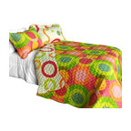 Blancho Bedding - [Colorful Doughnut] Cotton 3PC Vermicelli-Quilted Patchwork Quilt Set Full/Queen - The [Colorful Doughnut] Quilt Set (Full/Queen Size) includes a quilt and two quilted shams. This pretty quilt set is handmade and some quilting may be slightly curved. The pretty handmade quilt set make a stunning and warm gift for you and a loved one! For convenience, all bedding components are machine washable on cold in the gentle cycle and can be dried on low heat and will last for years. Intricate vermicelli quilting provides a rich surface texture. This vermicelli-quilted quilt set will refresh your bedroom decor instantly, create a cozy and inviting atmosphere and is sure to transform the look of your bedroom or guest room. (Dimensions: Full/Queen quilt: 90.5 inches x 90.5 inches Standard sham: 24 inches x 33.8 inches)
