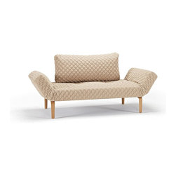 """Innovation USA - Innovation USA Zeal Coz Daybed - Lacquered Oak - Coz Petrol - 28"""" x 79"""" - The small multifunctional resting place in your home was designed as a homage to the great mid-century design era of furniture design."""