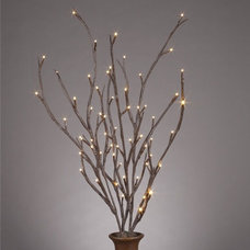 Contemporary Accessories And Decor Lighted Willow Branches