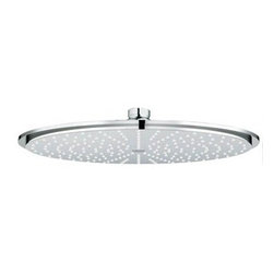 """GROHE - Grohe Rainshower Shower Head - Starlight Chrome - Description 12"""" Face 208 Spray Nozzles 1/2"""" Female Threads GROHE DreamSpray Technology SpeedClean Anti-Lime System Recommended for use with GROHE Rainshower shower arms Flow Rate 2.5 gpm at 80 psi Code Compliance ASME/ANSI A112.18.1M CSA Standard B125.1-05 View Spec Sheet"""