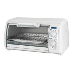 Applica - Black Decker 4 Slice Toaster Oven White - Black and Decker Toast R Oven Classic Toaster Oven in White.