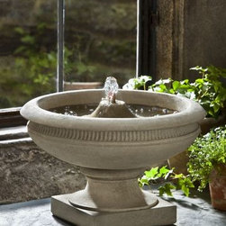 Campania - Veranda Cast Stone Tabletop Fountain -
