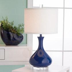 Kiss Ceramic Gourd Table Lamp -