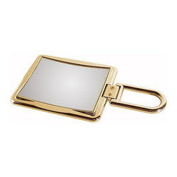 WS Bath Collections - Toeletta Lady 377-3G Travel Magnifying Mirror in Gold - Toelleta Lady 377-3G Travel Magnifying Mirror in Gold