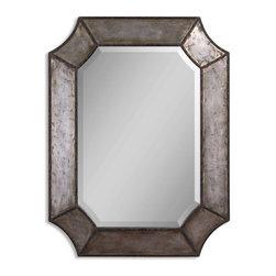 Uttermost - Uttermost 13628 B Elliot Distressed Hammered Aluminum Mirror - Distressed Hammered Aluminum Finish