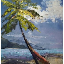 Island Vibe by Carol Schiff (Original) by Carol Schiff - This is my idea of the perfect vacation....a deserted beach on Palm Island in the Turk's Island chain way down by South America. I cannot wait to return to the islands.