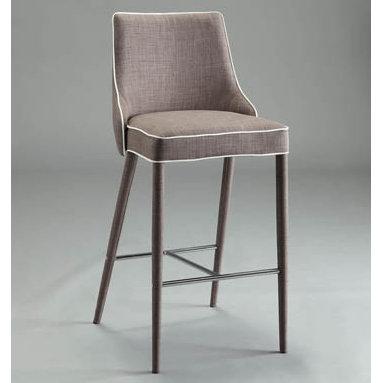 Corona Stool - plywood seat on metal frame in nickel or black finish