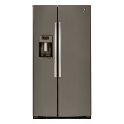 GE® ENERGY STAR® Side-By-Side Refrigerator - Classic side-by-side refrigerator styling provides maximum food storage capacity and complements a wide variety of kitchen designs. Modern and stylish, these refrigerators put you in control.
