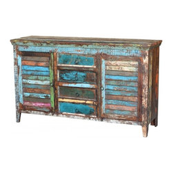 Classic Home Furniture - Vintage Shutter Buffet - 59932245 - Classic Home Furniture - Vintage Shutter Buffet - 59932245