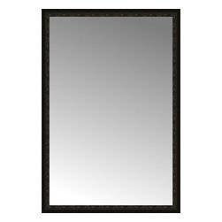 """Posters 2 Prints, LLC - 50"""" x 73"""" Mantilla Expresso Custom Framed Mirror - 50"""" x 73"""" Custom Framed Mirror made by Posters 2 Prints. Standard glass with unrivaled selection of crafted mirror frames.  Protected with category II safety backing to keep glass fragments together should the mirror be accidentally broken.  Safe arrival guaranteed.  Made in the United States of America"""