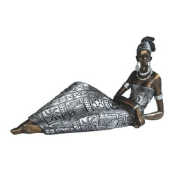 GSC - 12.5 Inch African Lady In Silver Dress Figurine - This gorgeous 12.5 Inch African Lady In Silver Dress Figurine has the finest details and highest quality you will find anywhere! 12.5 Inch African Lady In Silver Dress Figurine is truly remarkable.