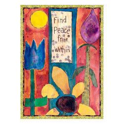 """Westland - 12 x 16.5 Inch """"Find Peace From Within"""" Canvas Wall Art, Multicolored - This gorgeous 12 x 16.5 Inch """"Find Peace From Within"""" Canvas Wall Art, Multicolored has the finest details and highest quality you will find anywhere! 12 x 16.5 Inch """"Find Peace From Within"""" Canvas Wall Art, Multicolored is truly remarkable."""