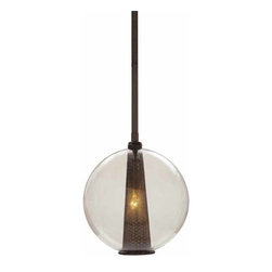 "Arteriors - Arteriors Home - Caviar Adj Md Brown Nickel Smoke Pendant - DK49912 - Laura Kirar hit a grand slam when she designed the Caviar lighting collection. This is the medium sized 1 light brown nickel pendant with smoked glass globe. It is also available in 2 other finishes. DK49911 polished nickel and DK49927 Rose gold. Features: Caviar Collection Pendant Brown NickelIt is also available in 2 other finishes Some Assembly Required. Dimensions: H 38 1/2"" x 10"" Dia"