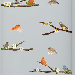 Walls Need Love - Spring Song Birds, Adhesive Wall Decal - These Spring Song Bird adhesive wall decals are the perfect way to bring joy and light to your walls and to your home.