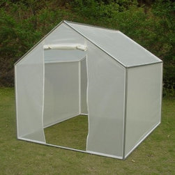 STC 6 x 7 ft. EasyGreen Greenhouse - Possibly the best engineered, low price greenhouse for your money, the STC 6 x 7 ft. EasyGreen Greenhouse makes a great investment. Framed in sturdy, rust-resistant aluminum that can handle all types of year-round weather, this greenhouse is covered in a UV-resistant poly material to keep your plants inside well warmed. Easy to assemble in under an hour, this greenhouse features a roll-up door on the front with a strong zipper closure as well as a rear vent that can be zippered open or closed. This greenhouse stands 6 ft. 7 in. tall at its peak and includes an anchoring system so it won't blow away in gusty weather.About Systems Trading CorporationSystems Trading Corporation (STC) was incorporated in 1994 as a manufacturer and distributor of high-quality, innovative, easy-to-use products at affordable prices. The company is privately held, with a skilled professional staff. Among the products offered, you will find the most innovative line of TV and flat-screen wall and ceiling mounts, the USA's best-selling backyard hobby greenhouses, the world's best-selling robotic lawn mower, and mini coolers and mood light products.