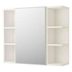 IKEA of Sweden - LILLÅNGEN Mirror cabinet 1 door/2 end units - Mirror cabinet 1 door/2 end units, white