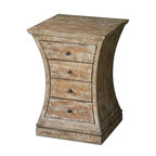 Uttermost - Avarona Rustic Accent Chest - Tuck this chest of drawers next to your bed or sofa for the ultimate in storage and design. The expertly distressed finish provides just the right touch of rustic elegance, while five drawers give you plenty of space to organize your essentials. Complete the look with a charming table lamp for the best reading nook in the house.