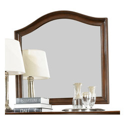 American Drew - American Drew Cherry Grove NG Arched Landscape Mirror in Mid Tone Brown - Cherry Grove New Generation line promises the same timeless quality and appeal with a full line of dining room, bedroom, home office, entertainment and occasional furniture. The line incorporates many elegant curves and graceful movement, and is updated with today? finishes, functionality and style. The inviting Mid tone brown finish makes the cherry veneers pop on each piece, along with Custom designed hardware. This line takes advantage of vertical space with higher case heights, and maximizes the utility of small spaces with hinged drop leaves on servers and tables. In combination, the collection takes functionality to a lifestyle level and allows urban or scaled-down living spaces to become entertainment areas, making small rooms work like big rooms. The New Generation of Cherry Grove is about honoring tradition while staying on trend.