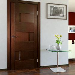 Modern Interior Doors - Dominika looks irresistable as a hallway interior door. Price includes door slab, framing and casings. Hardware is separate.
