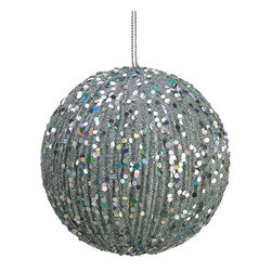 Silk Plants Direct - Silk Plants Direct Glitter Ball Ornament (Pack of 12) - Silver - Pack of 12. Silk Plants Direct specializes in manufacturing, design and supply of the most life-like, premium quality artificial plants, trees, flowers, arrangements, topiaries and containers for home, office and commercial use. Our Glitter Ball Ornament includes the following: