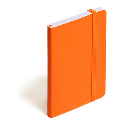 Poppin - Soft Cover Notebook, Orange, Small - Keep your little black book — or play the field in a rainbow of colors. This notebook features 192 white ruled pages for your field notes, love poems and bright ideas, and it has an interior pocket, elastic closure and an orange bookmark so you know your place.