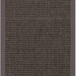 Jaipur Rugs - Naturals Solid Pattern Sisal Gray/Taupe Area Rug ( 2.6x9 ) - Woven 100% of natural sisal and accented with a fabric border, these rugs are durable and latex backed.
