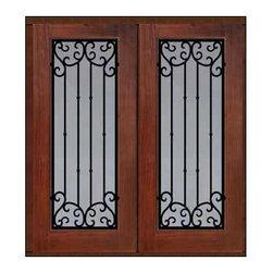 """Prehung Double Door 80 Fiberglass Valencia Full Lite Wrought Iron - SKU#MCT09WV_WFFV2BrandGlassCraftDoor TypeExteriorManufacturer CollectionFull Lite Entry DoorsDoor ModelValenciaDoor MaterialFiberglassWoodgrainVeneerPrice3700Door Size Options2(32"""")[5'-4""""]  $02(36"""")[6'-0""""]  $0Core TypeDoor StyleDoor Lite StyleFull LiteDoor Panel StyleHome Style MatchingDoor ConstructionPrehanging OptionsPrehung , ImpactPrehung ConfigurationDouble DoorDoor Thickness (Inches)1.75Glass Thickness (Inches)Glass TypeDouble GlazedGlass CamingGlass FeaturesTempered glassGlass StyleGlass TextureClear , rain , FlutedGlass ObscurityNo Obscurity , Highest Obscurity , High ObscurityDoor FeaturesDoor ApprovalsTCEQ , Wind-load Rated , AMD , NFRC-IG , IRC , NFRC-Safety GlassDoor FinishesDoor AccessoriesWeight (lbs)603Crating Size25"""" (w)x 108"""" (l)x 52"""" (h)Lead TimeSlab Doors: 7 Business DaysPrehung:14 Business DaysPrefinished, PreHung:21 Business DaysWarrantyFive (5) years limited warranty for the Fiberglass FinishThree (3) years limited warranty for MasterGrain Door Panel"""