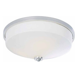 Volume Lighting - Volume Lighting V2533 Philippi 2 Light Flush Mount Ceiling Fixture - Two Light Flush Mount Ceiling Fixture from the Philippi CollectionSpectacular in brushed nickel, this 2 light flush mount fixture features a white glass dome shade.Features: