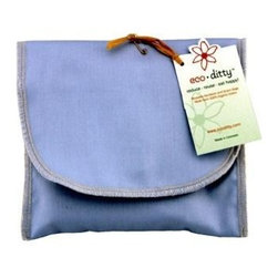 Eco Ditty Sandwich Bag - Powder Blue - eco ditty is the perfect sandwich bag. Made from 100% organic cotton they are easily adjustable to handle all types of sandwiches.