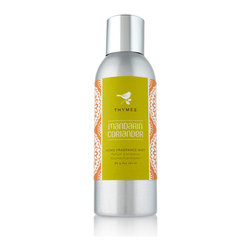 Mandarin Coriander Home Fragrance Mist - 3 oz. - Energize a room with the warm brilliance of Mandarin Coriander Home Fragrance Mist. Whether you're using it to freshen up a linen closet or bring a burst of scent to your home's air at a custom potency, this scent-when-you-need-it solution provides a lush citrus-herbal aroma. Packaged in a steely metallic atomizer bottle, the room spray can be left on a bookshelf or windowsill until you need it.