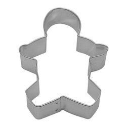 RM - Gingerbread Boy Cookie Cutter - Gingerbread Boy cookie cutter, made of sturdy tin, Size 3.5 in., Depth 7/8 in., Color silver