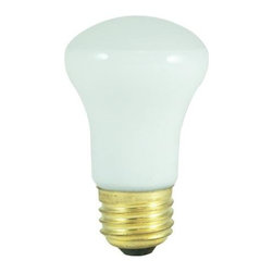Bulbrite - Mini Reflector Incandescent Bulbs in Clear Sh - One pack of 25 Bulbs. 120V E26 standard base bulb. Flood beam spread. Made with vibration resistant filament for longer life. Ideal for dramatic accent and display lighting as well as general applications. To fit any ceiling fan, amusement, recessed, pendant, downlight, sign, display and track application. Dimmable. Average hours: 1500. Color temperature: 2600 K. Color rendering index: 100. Wattage: 40 watt. Lumens: 380 CP. Maximum overall length: 3.37 in.