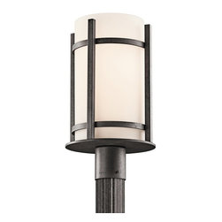 BUILDER - BUILDER 49123AVIFL Camden Lodge/Country/Rustic/Garden Fluorescent Outdoor Post L - Meet Energy Star and Title 24 requirements. Rated for wet locations. Photocell Included.