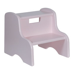 Little Colorado - Lavender Step Stool - This handy step stool provides little ones with a boost when trying to reach the top shelves of bookcases or turn off a running faucet after brushing their teeth.   12'' W x 11'' H x 13'' D Medium-density fiberboard / birch plywood Recommended for ages 3 years and up Weight capacity: 100 lbs. Made in the USA