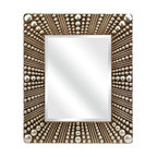 Silver and Pearl Glamour Wall Mirror - *This Neveah Wall Mirror's silver and pearl design can give you the touch of glam that you are looking for.