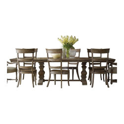 "Hooker Furniture - Hooker Furniture Sorella Rectangular Dining Table with Leaves in Brown - Hooker Furniture - Dining Tables - 510775206 - Celebrate being together with dining kitchen and game room furniture from Hooker. Whether it's a routine meal for two ""on the go"" between activities and appointments or a lingering holiday feast for a houseful of guests, our dining room collections will enrich every occasion. Whatever your style, from formal to fun, all your mealtimes will be enhanced by the gracious design of dining tables, sideboards, hutches, and elegant, comfortable seating."