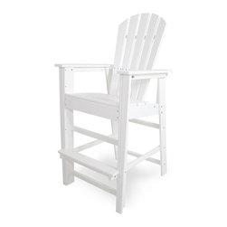 Polywood - Eco-friendly Bar Chair in White - The Nautical Collection offers many different chair styles along with tables in both traditional and taller heights. you'll find the perfect match for your decor. Grab a cold drink and make yourself comfortable in the Polywood Nautical Bar Chair.