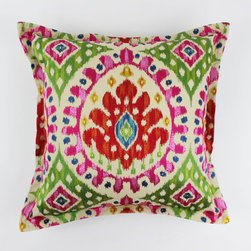 """Custom Cushions and Pillows by Lynn Chalk - Custom 22"""" Pillows by Lynn Chalk in Cowtan and Tout Manuel Canovas Bella in Rose Indien with 1"""" Flange"""