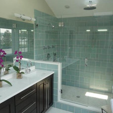 Contemporary Bathroom by Bellew Tile and Marble