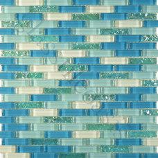 Beach Style Wall And Floor Tile Mediterranean Kitchen Tile